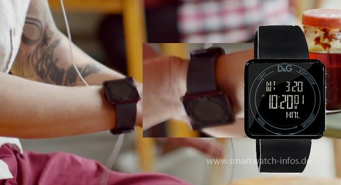 Vergleich Uhr aus TV Spot mit D&G Uhr