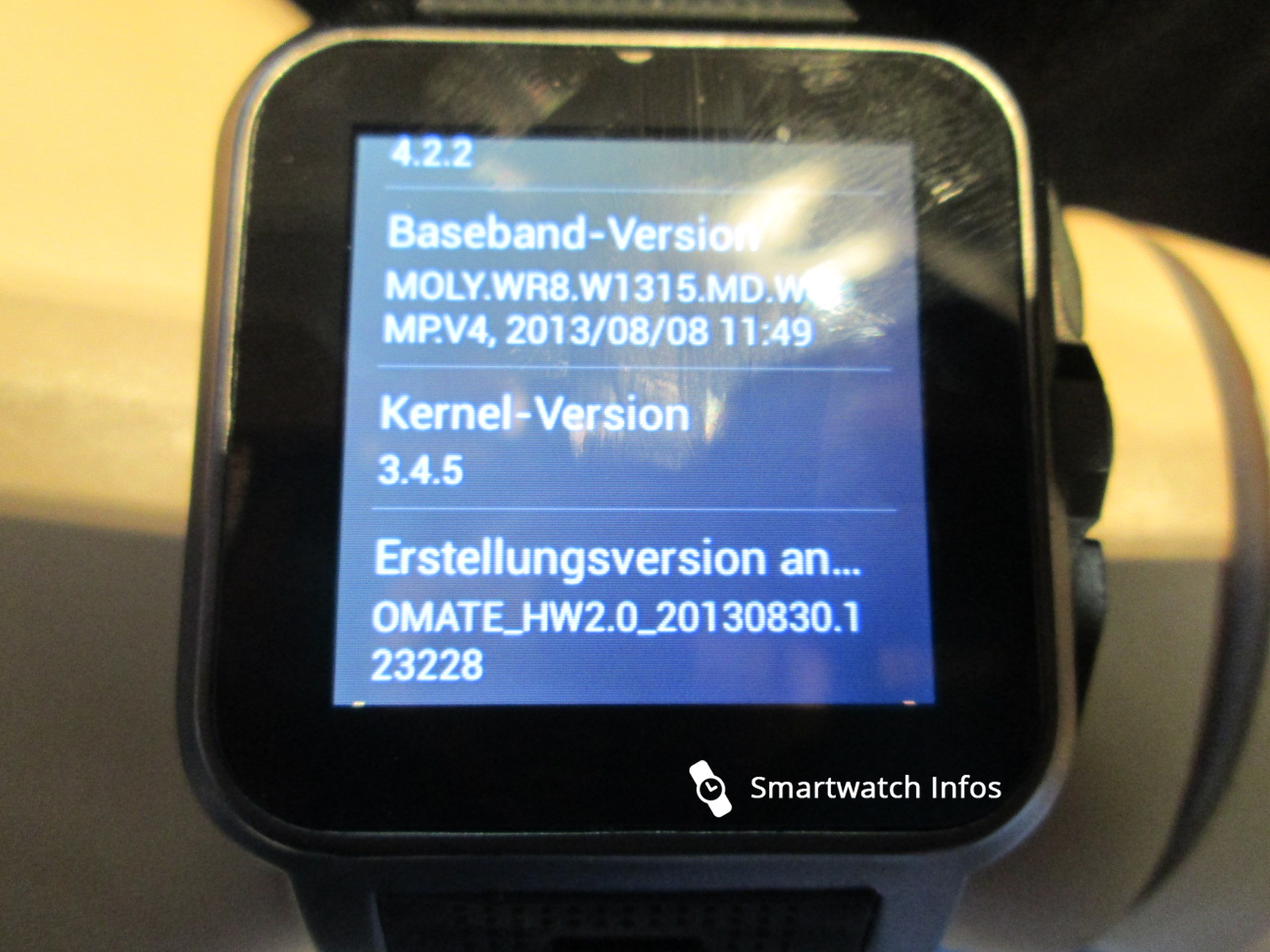 Pearl Smartwatch OS Info