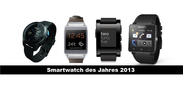 Smartwatch des Jahres 2013